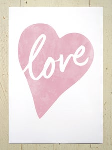 Image of Love Heart A3 art prints