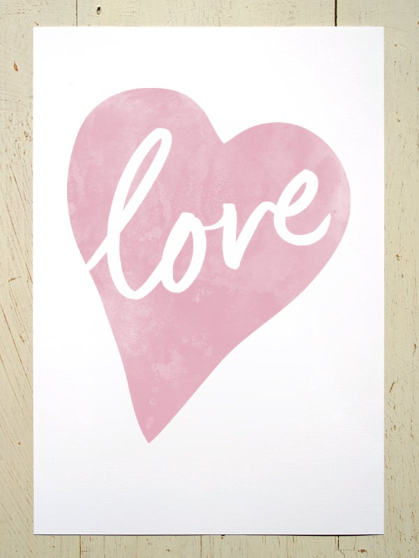 Image of Love Heart A3 art prints