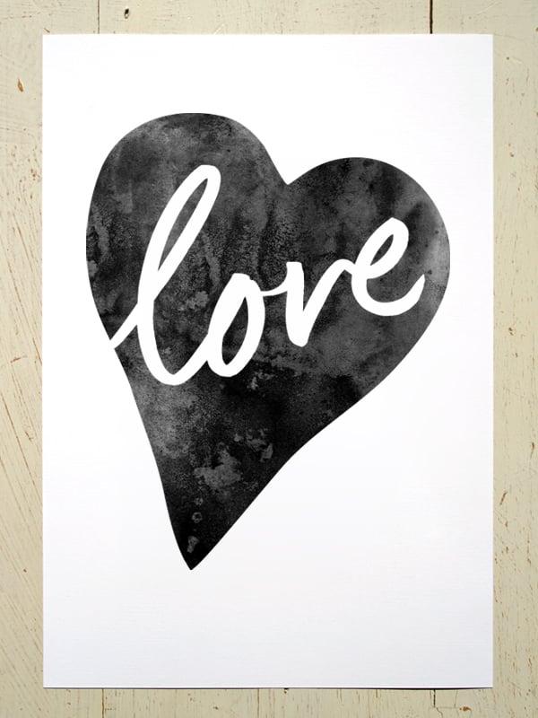 Image of Love Heart A4 art prints