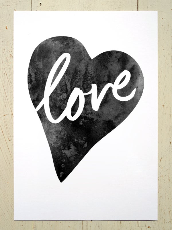 Image of Love Heart A4 art prints