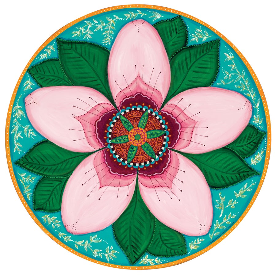 "Image of ""Strength and renewal""- Cherry Blossom Meditation Mat (Giclee art print)"
