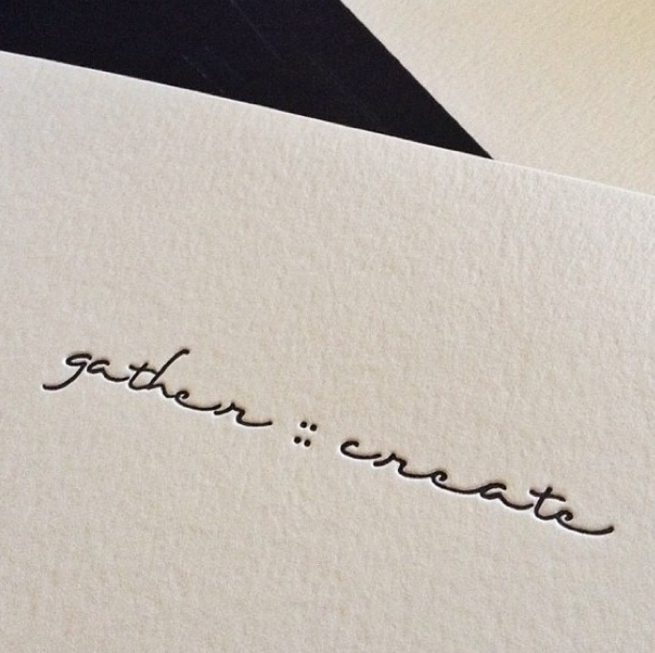 Image of Gather :: Create Letterpress Notebook