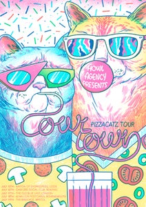 Image of Cowtown - Pizzacatz Tour Poster