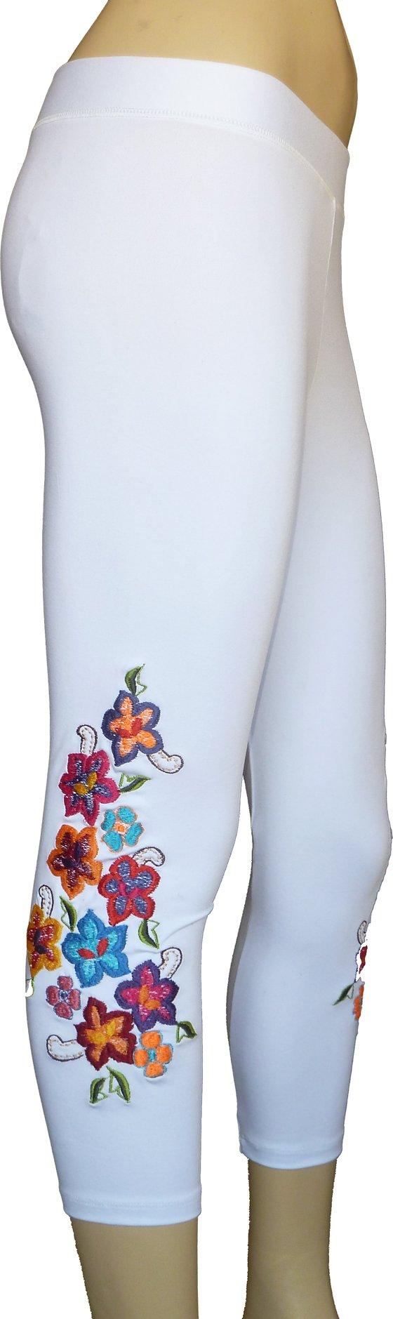 Image of Primavera Capri White leggings FW3285W