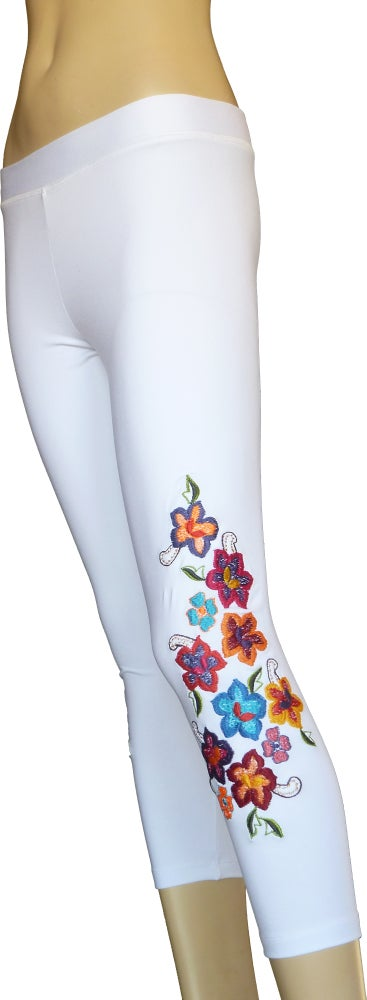 Image of Primavera Capri White leggings FW3285W