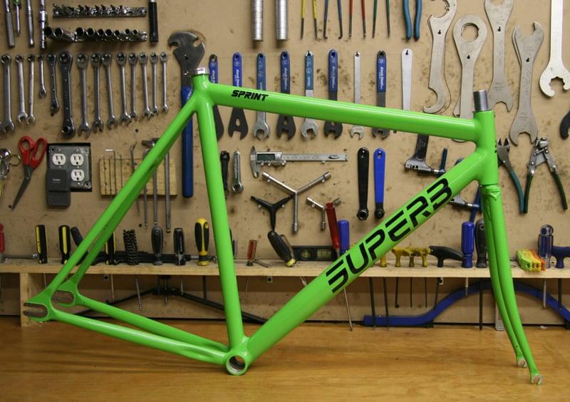 Image of Superb Sprint Frameset (Kawasaki Green)