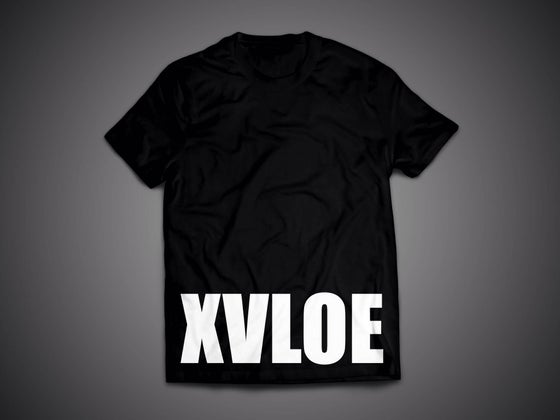 Image of XVLOE Logo Big Logo Black Tee