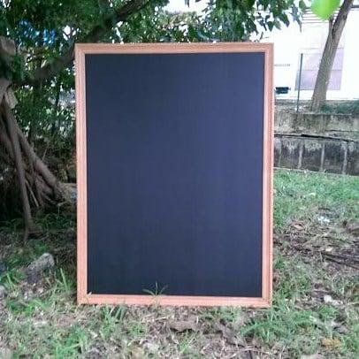 Image of Large Chalkboard with Corrugated Border