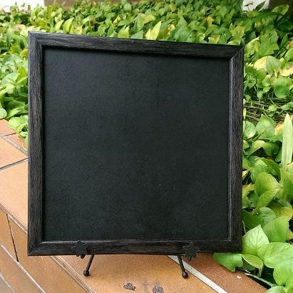 Square Chalkboard with Black Rounded Border (includes stand)