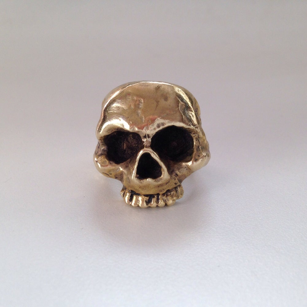 Image of The Lost For Words Skull Ring