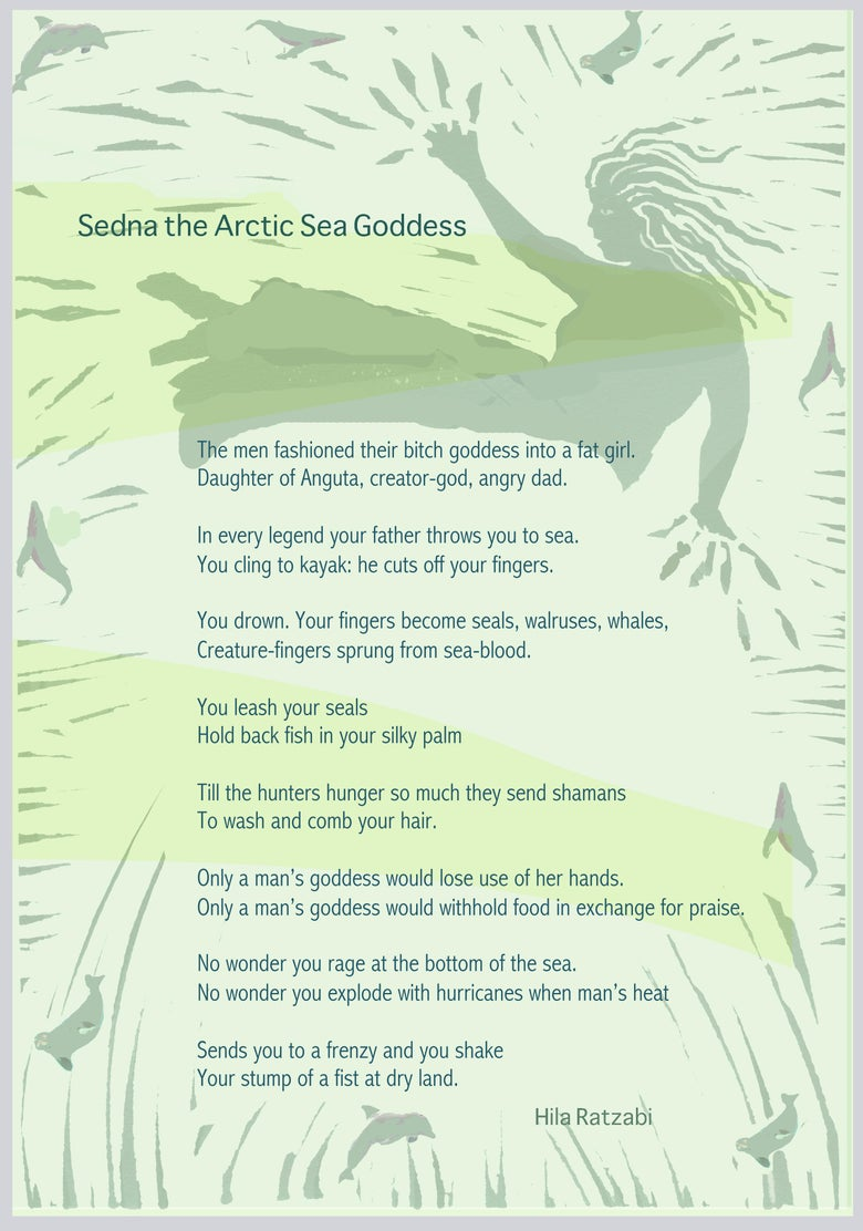 "Image of ""Sedna the Arctic Sea Goddess,"" by Hila Ratzabi"