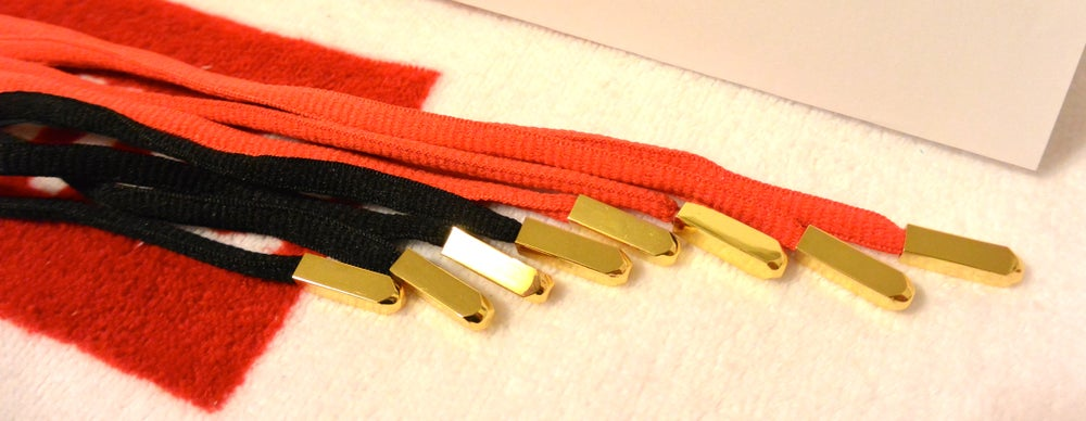 Image of Air Yeezy 2 inspired Gold Aglets With Shoes Laces ...
