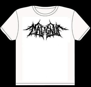 Image of MALIGNUS PLAIN LOGO TEE (WHITE)