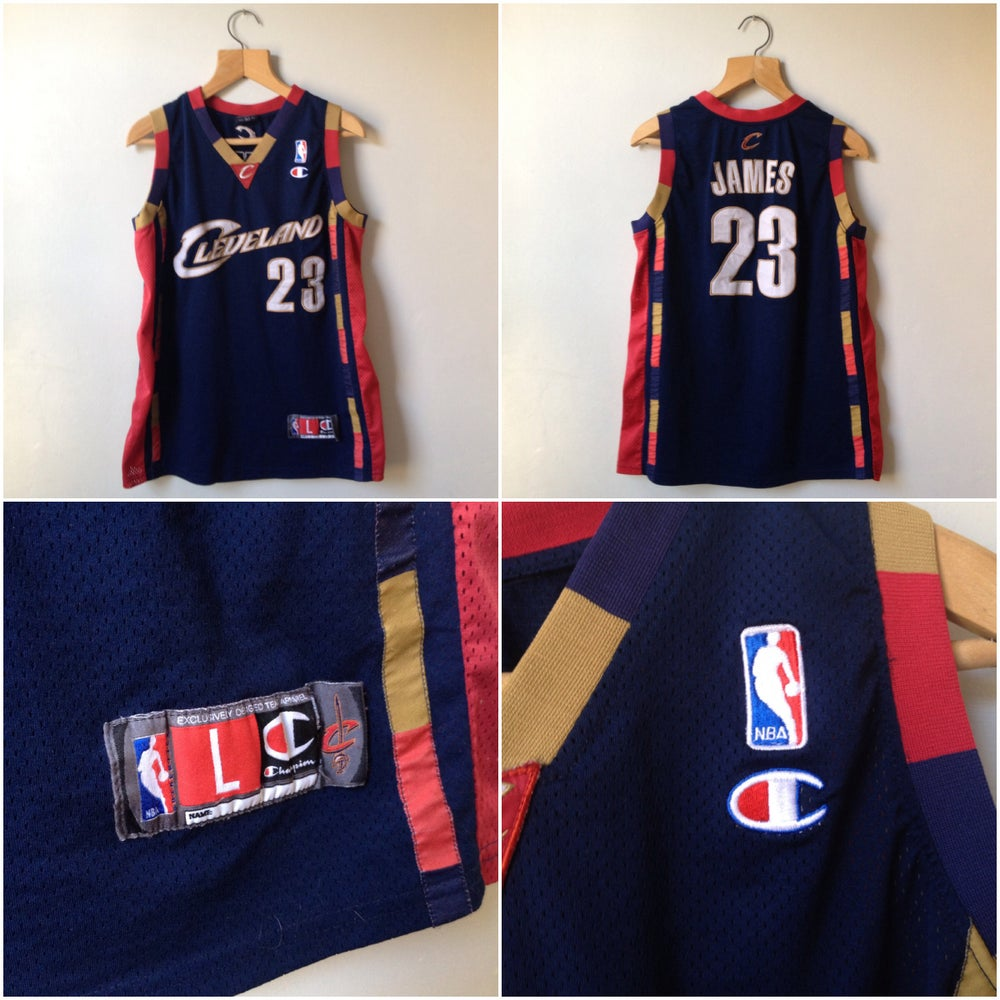premium selection 11e83 072f4 Champion Vintage Lebron James Cleveland Basketball Jersey.