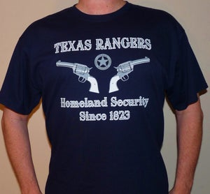 Image of Texas Rangers Homeland Security Since 1823 (Navy Blue)
