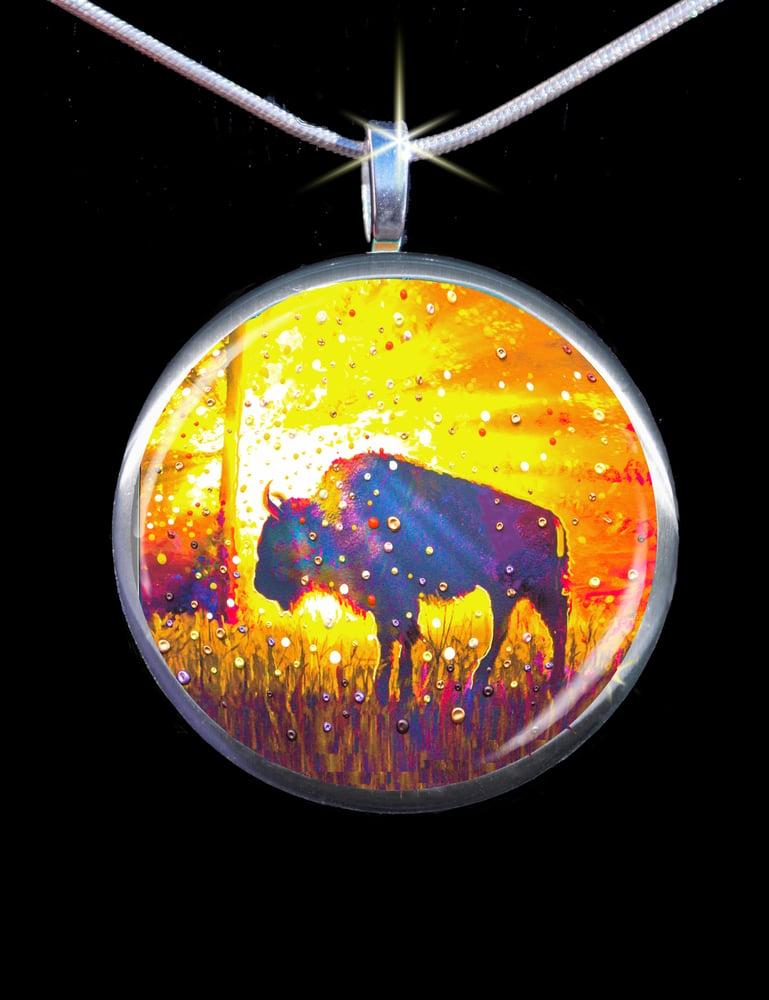 """Image of Sacred Buffalo """"Easy Abundance"""" Energy Pendant"""
