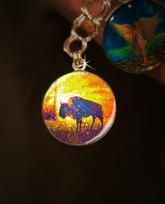 "Image of Sacred Buffalo ""Easy Abundance"" Energy Charm"