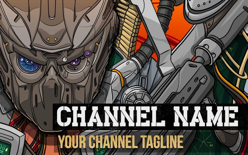 "Image of ""Robotic"" Premium YouTube Banner Template"