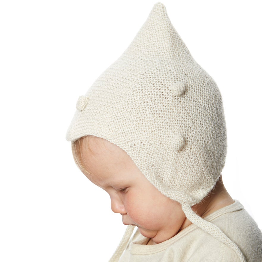 Image of Kids dotted Hat        White