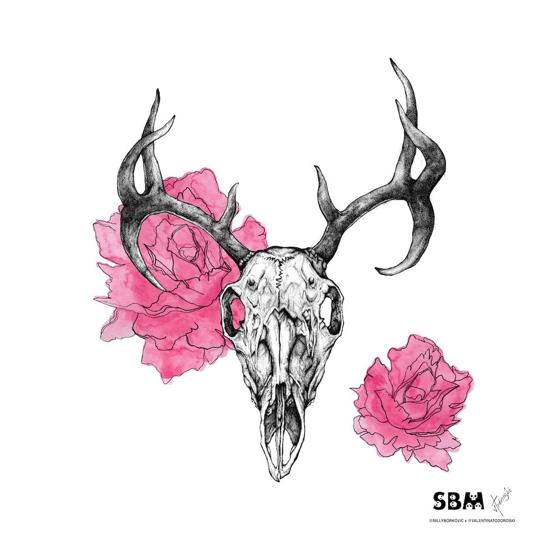 Image of Deer Skull Print