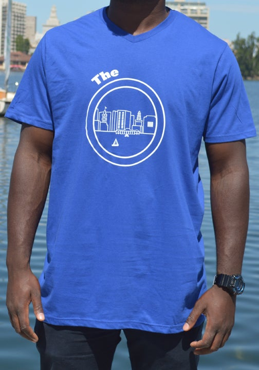 Image of Royal Blue and white tee