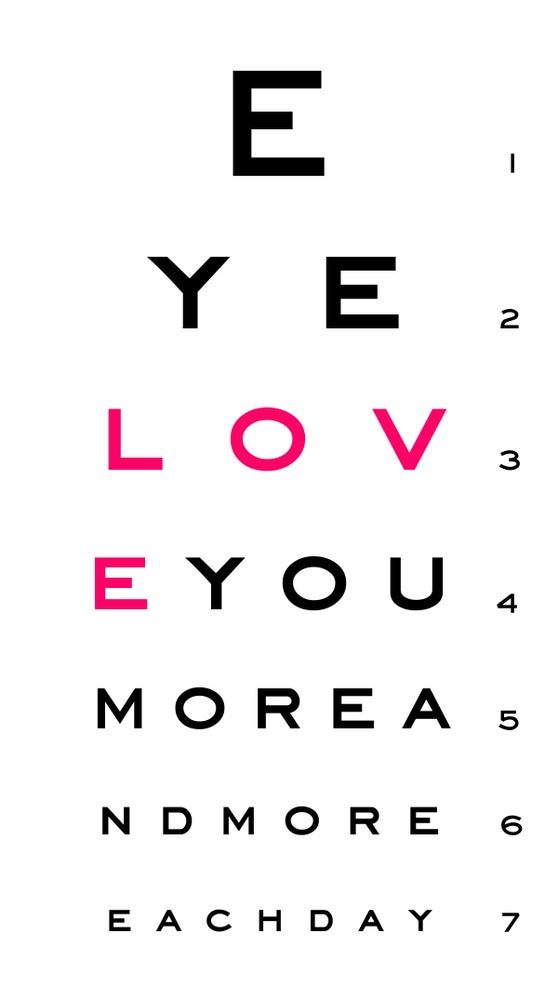 "Image of eye ""love you"" chart"