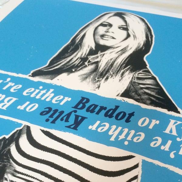 Image of KYLIE MINOGUE Vs BRIGITTE BARDOT By Ikon