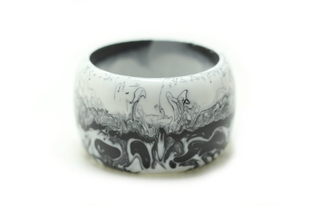 Image of Tall Marbled Bangle