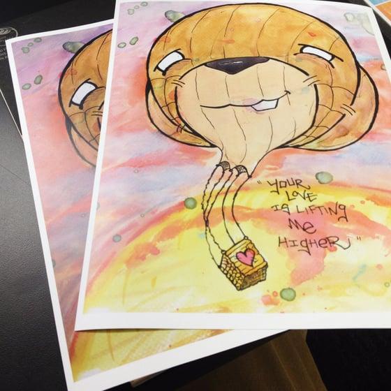 "Image of ""Jackie Wilson's Hot Bear Balloon"" Print"