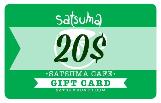 Image of Satsuma Giftcard / 20$