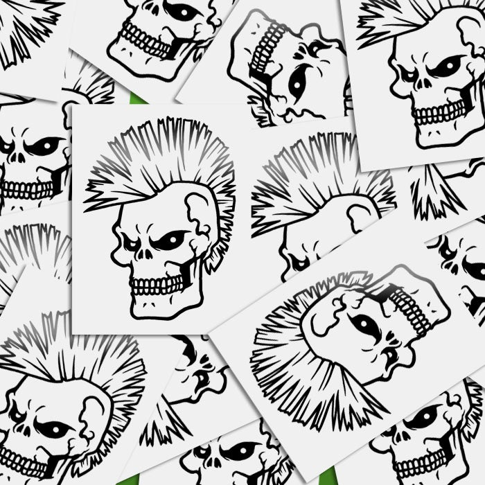 Image of Skull Mohawk Sticker