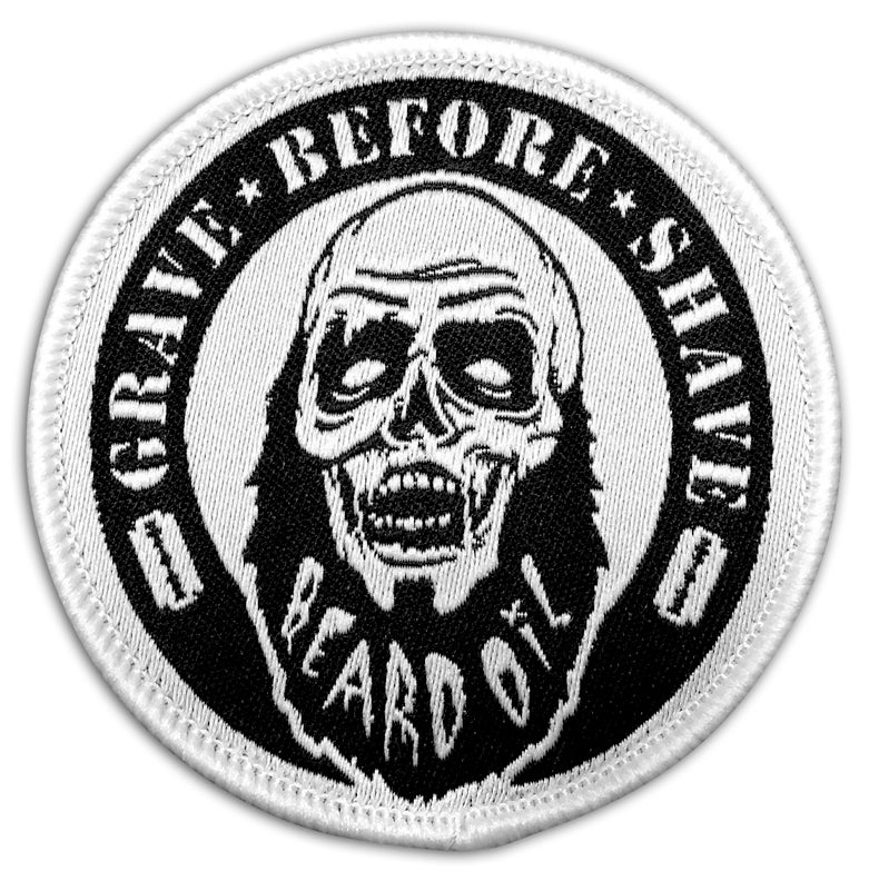 Image of GRAVE BEFORE SHAVE Zombie Beard Patch
