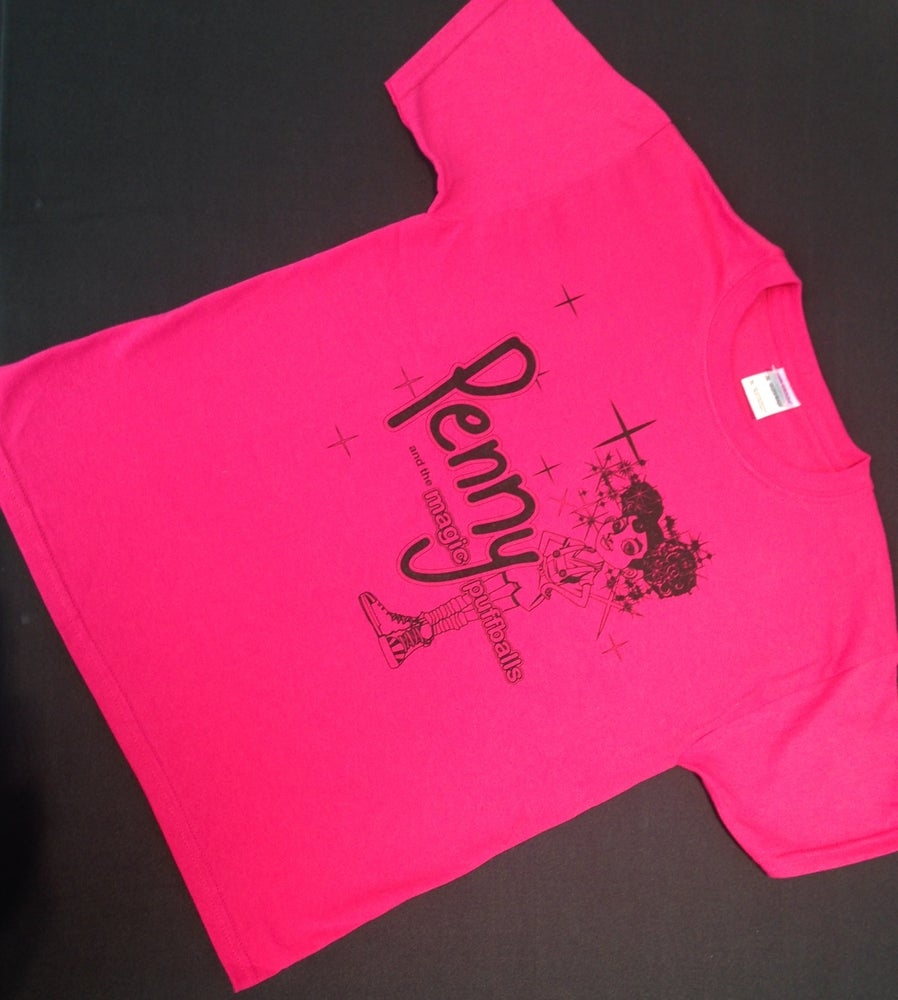 Image of Pink and Black Penny Tee