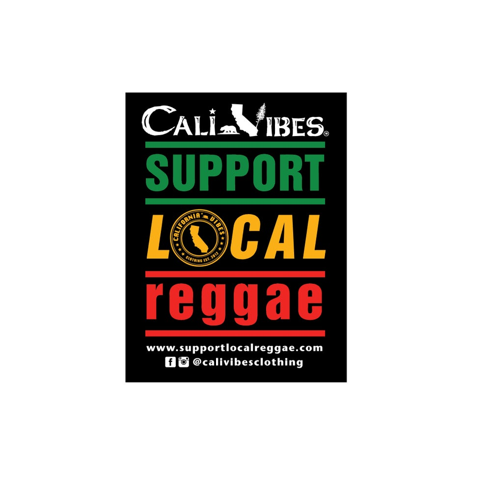 Image of sold out support local reggae sticker