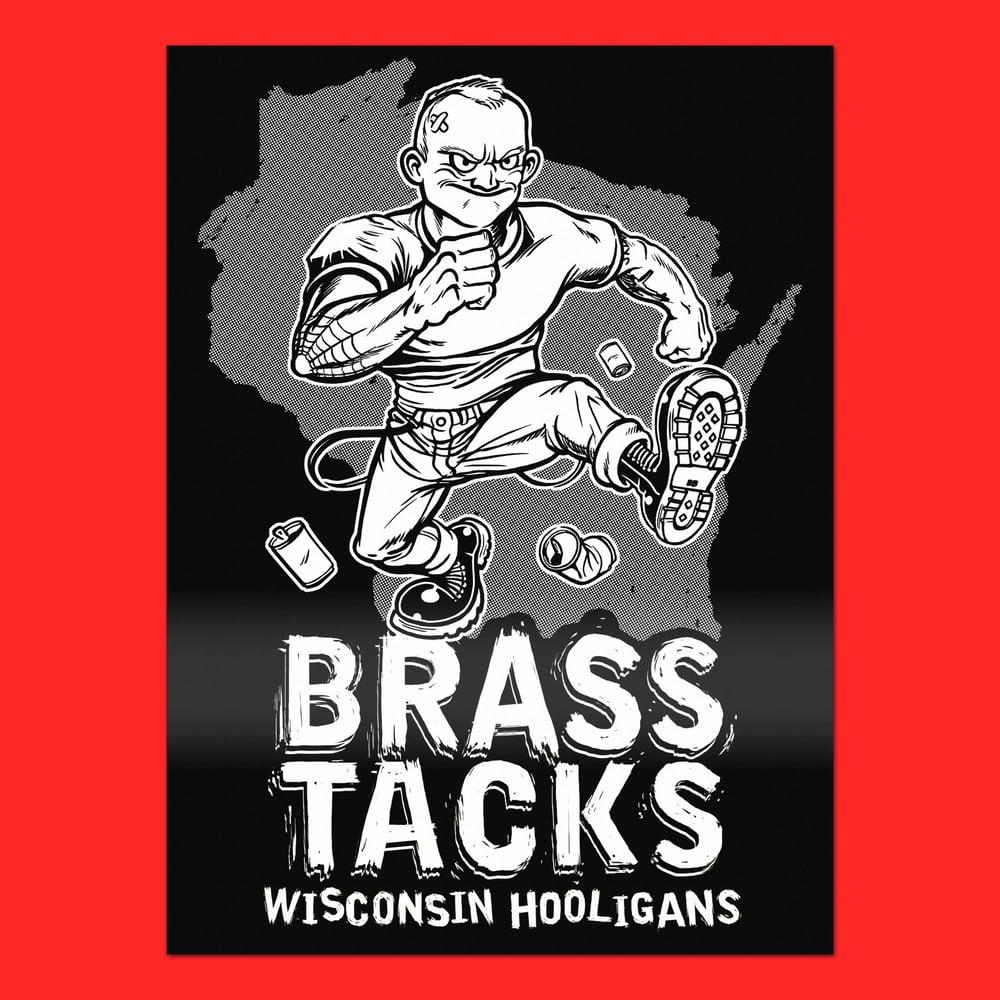 Image of Brass Tacks. Wisconsin Hooligans. (Sticker)