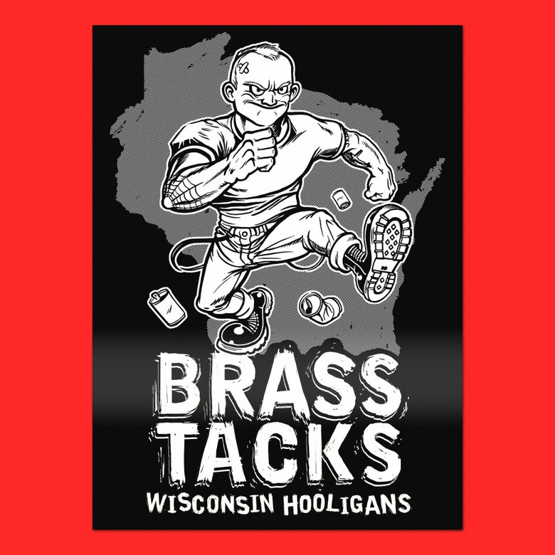 Image of Brass Tacks. Wisconsin Hooligans. (Sticker)