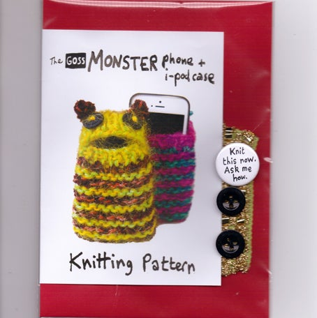 Image of Phone Monster knitting pattern