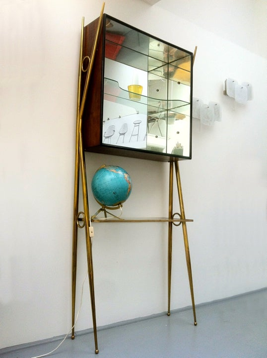 Image of Italian Mirrored Cabinet