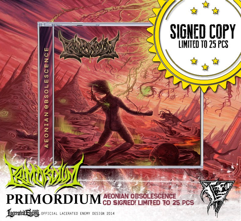 PRIMORDIUM - Aeonian Obsolescence CD / Digipack SIGNED COPY!