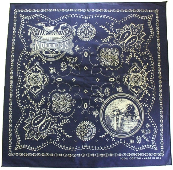 Image of Norcross Co. 100% Cotton Bandana - Navy