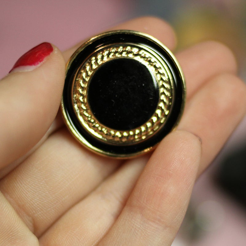 Image of Black & Gold Layer Plugs (sizes 1/2-1 1/8)