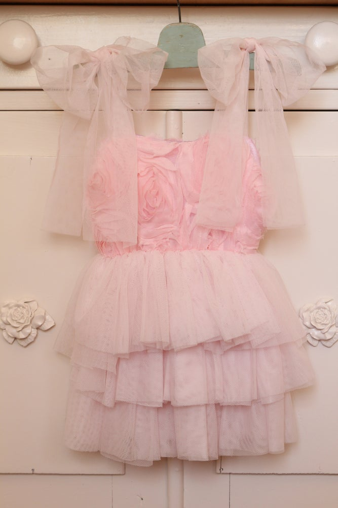 Image of Pink Roses & Ruffles Dress
