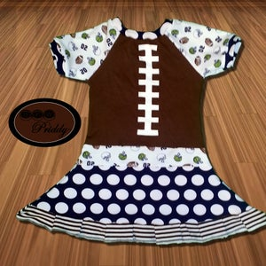 Image of **SOLD OUT**Football Twirl Dress - size 2/3