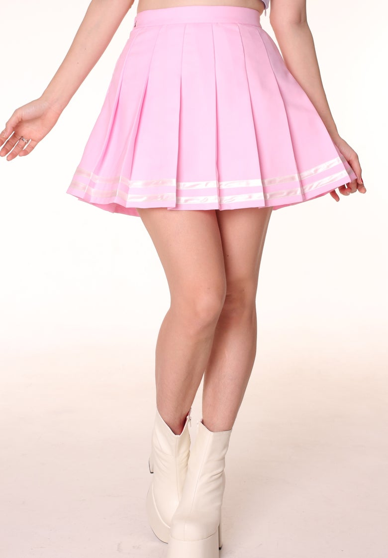 Image of Pre order - Baby Pink Cheerleading Skirt