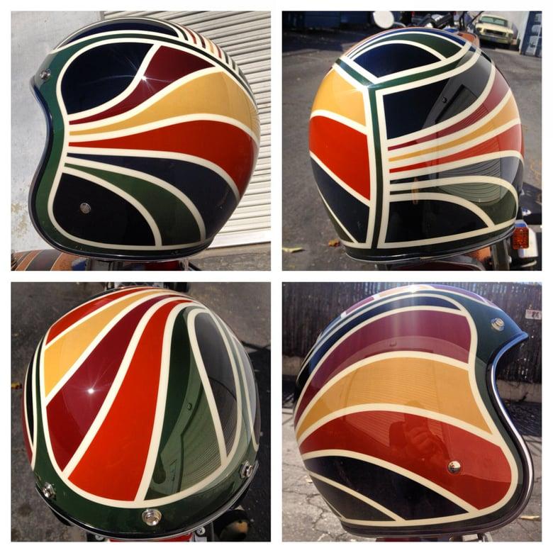 Image of 3/4 Biltwell DOT helmet size-large
