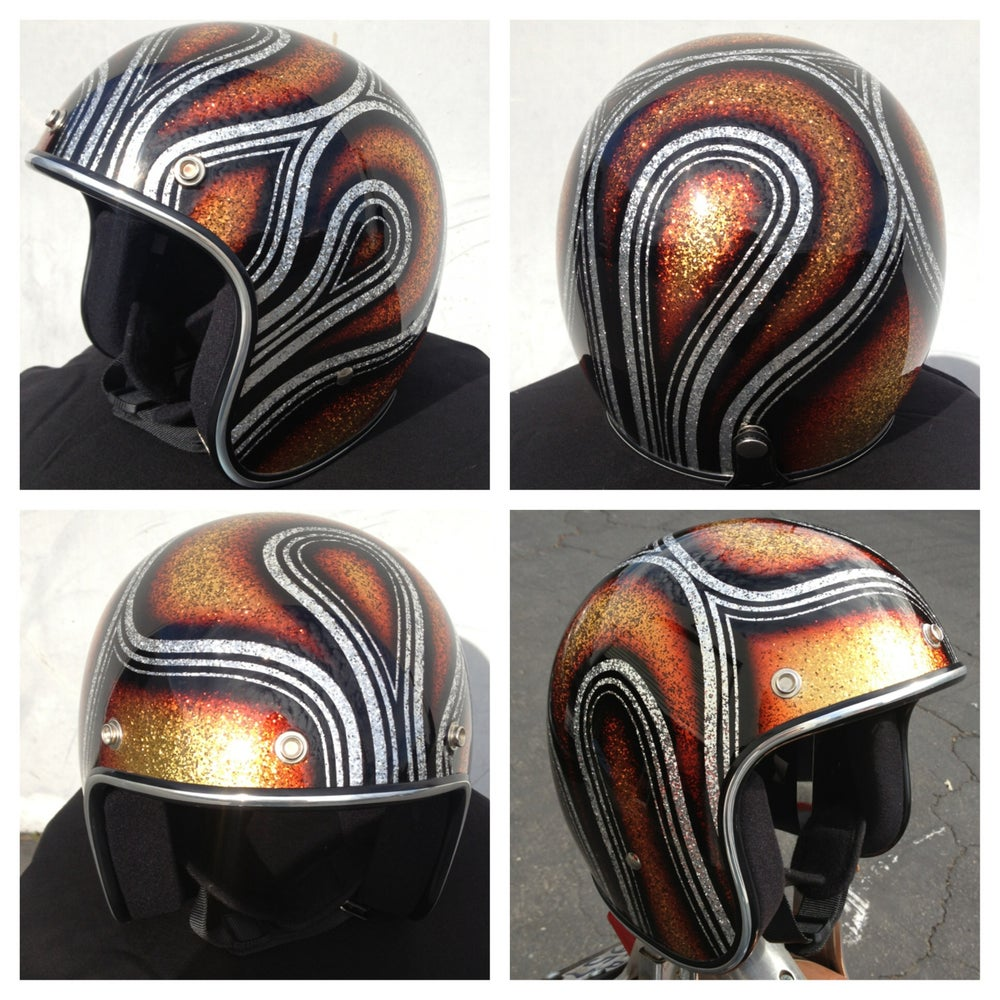 Image of 3/4 Biltwell novelty helmet - one size fits most
