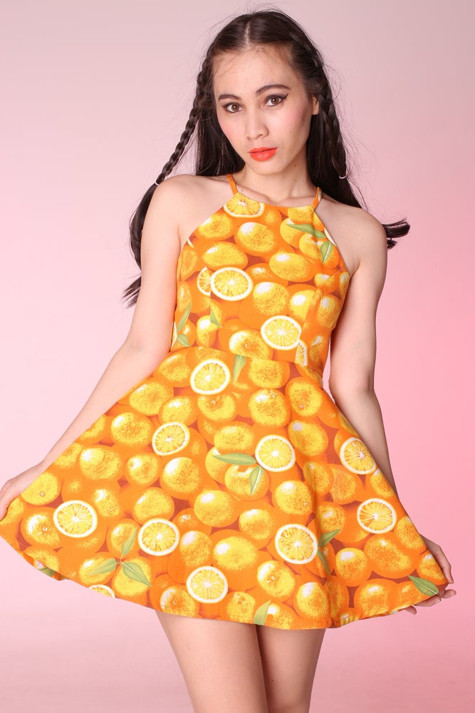 Image of Betty Orange Hatler Dress