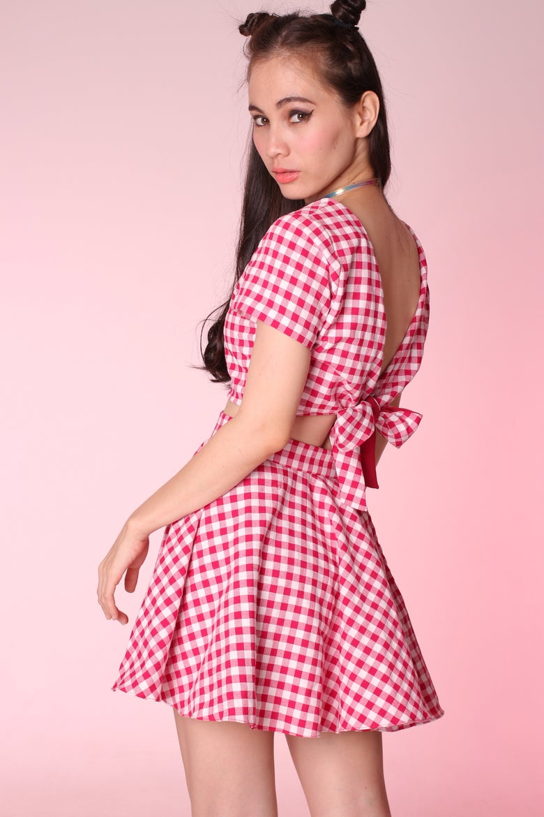 Image of Made To Order - Gina Gingham 2 Piece Set