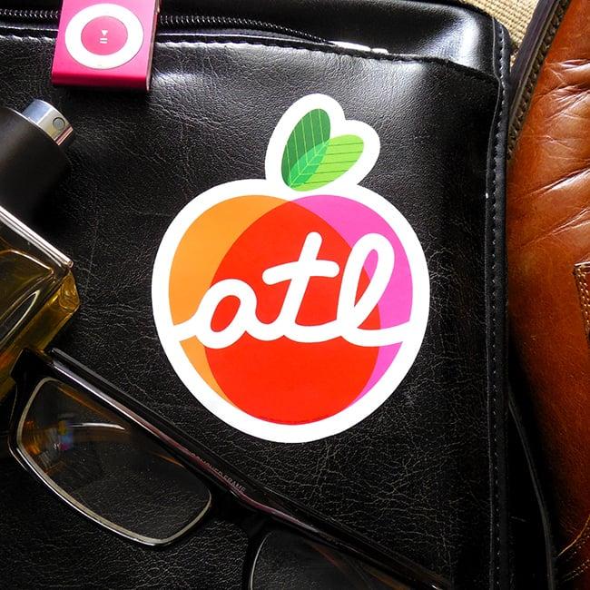 Image of The Big Peach Sticker
