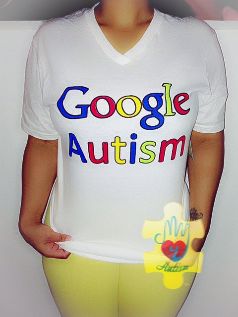 Image of Google Autism Awareness V-Neck Shirt